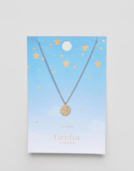 Orelia Gemini Constellation Disc Pendant Gold