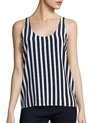 Ag Adriano Goldschmied Striped Silk Tank Top