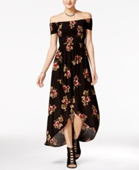 American Rag Off The Shoulder High Low Maxi Dress Only At Macy's Classic Black