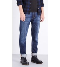 Nudie Jeans Brute Knut Regular Fit Straight Leg Blue Swede