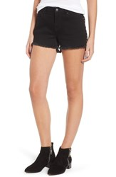 Vigoss Studded Step Hem Denim Cutoff Shorts Black