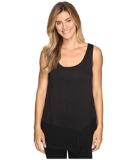 Lilla P Sleeveless Scoop Neck Tank Top Black Women's Clothing