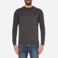 Barbour Men's Pima Cotton Crew Knitted Jumper Charcoal Grey