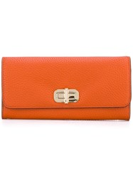 Michael Michael Kors Turn Lock Wallet Yellow Orange