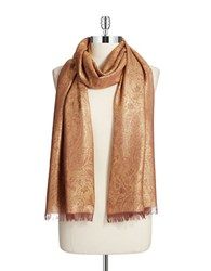 Lord And Taylor Paisley Scarf Gold