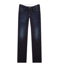 Armani Jeans Slim Rinsed Male Blue