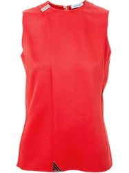 Thierry Mugler Mugler Plain Tank Top Red