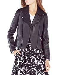 Bcbgmaxazria Lila Leather Moto Jacket