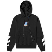 Off White Thermo Oversized Hoody Black