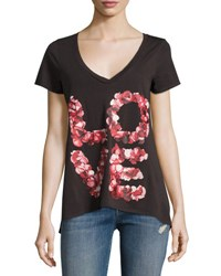 Chaser Rose Petals Graphic Tee Black