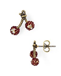 Marc Jacobs Cherry Stud Earrings Gold