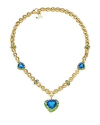 Margot Mckinney Jewelry Hearts Desire Topaz And Sapphire Necklace With Diamonds In 18K Gold