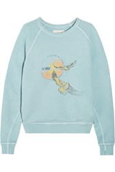 The Great College Printed Cotton Terry Sweatshirt Blue