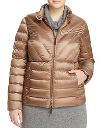 Marina Rinaldi Pace Quilted Down Jacket Brown