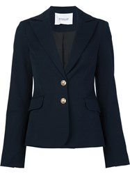 Derek Lam 10 Crosby Slim Fit Blazer Blue