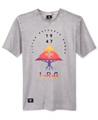 Lrg Men's Graphic Print T Shirt Ash Heather