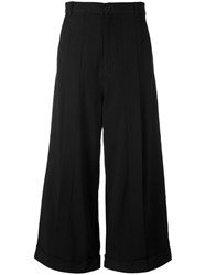 Henrik Vibskov Cropped Tailored Trousers Women Cotton Linen Flax Spandex Elastane Viscose S Black