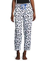 Lord And Taylor Printed Cotton Pajama Pants Light Periwinkle