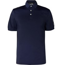 Rlx Ralph Lauren Airflow Stretch Jersey Golf Polo Shirt Blue