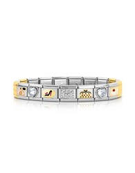 Nomination Classic Tr S Chic Golden Stainless Steel Bracelet W Crystals Silver