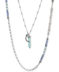 Lonna And Lilly Beaded Crystal 24 40 2 In 1 Necklace Blue