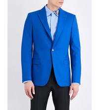 Alexander Mcqueen Single Breasted Wool Jacket Oxford Blue
