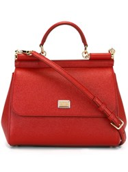 Dolce And Gabbana Medium 'Sicily' Tote Red