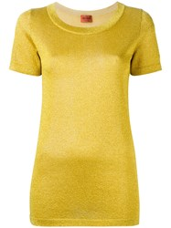 Missoni Glitter Effect T Shirt Yellow Orange