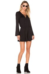 Nytt Lace Up Romper Black