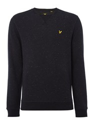 Lyle And Scott Men's Brushed Fleck Crew Neck Sweatshirt Black