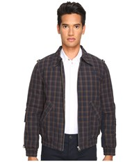 Vivienne Westwood Anglomania Bondage Bomber Jacket Dark Blue Brown Men's Coat