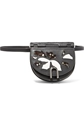 3.1 Phillip Lim Hana Convertible Patent And Matte Leather Belt Bag Black