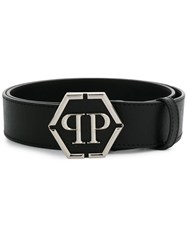 Philipp Plein Statement Buckled Belt Black