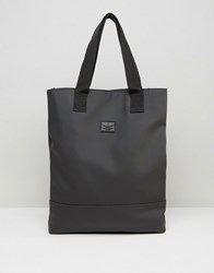Asos Tote Bag In Rubberised Finish Black