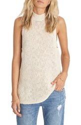 Billabong Women's Cross My Heart Sleeveless Sweater White Cap