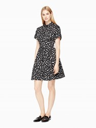 Kate Spade Mini Blot Dot Shirtdress French Cream Black