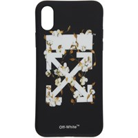 Off White Black And Cotton Flower Iphone X Case