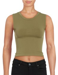 Free People Stretch Crop Top Green