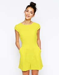 Wal G Tailored Playsuit Yellow