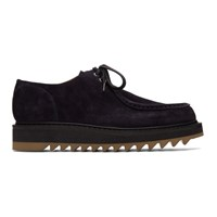 Dries Van Noten Navy Suede Chukka Derbys