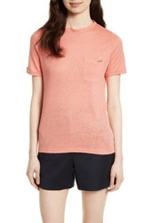 Ted Baker Women's London Harlaa Square Cut Linen Tee Coral