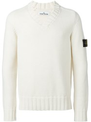 Stone Island V Neck Sweater Nude And Neutrals