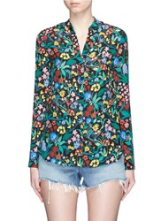 Alice Olivia 'Betty' Oversized Floral Print Tunic Multi Colour Black