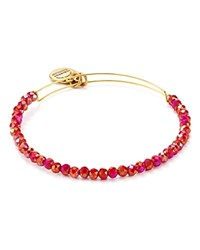 Alex And Ani Cosmic Crush Brilliance Bead Expandable Wire Bangle Pink Orange