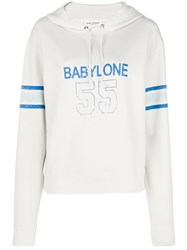 Saint Laurent Babylone 55 Hoody Nude And Neutrals
