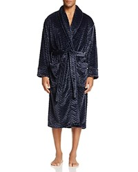 Daniel Buchler Chevron Textured Robe Navy