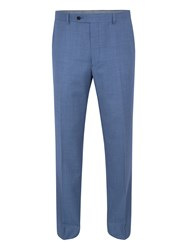 Paul Costelloe Modern Fit Blue Birdseye Suit Trousers Light Blue