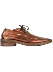 Marsell Marsa Ll Pointed Toe Lace Up Shoes Metallic