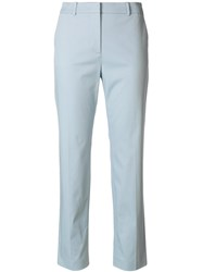 Mantu Straight Cropped Trousers Blue