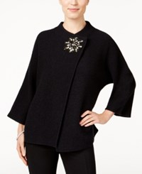 Jm Collection Wool Embellished Topper Only At Macy's Deep Black